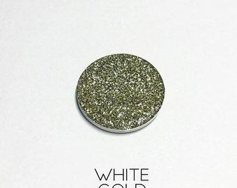 Pressed Glitter Eyeshadow - 'White Gold'