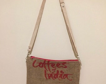 Coffee sack shoulder bag