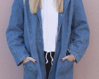1960's Denim Trench Coat