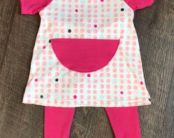 Cotton knit baby girl dress/Easter dress/baby clothing/baby girl dress/baby girl clothing/cotton knit dress