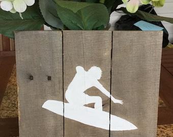 Surfer Pallet Art Coastal Summer