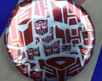 Transformers Autobot Button Badge.