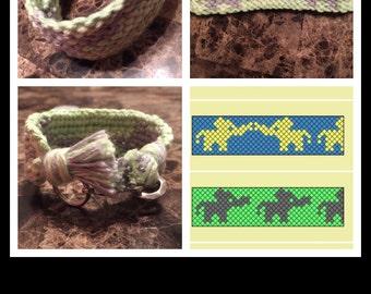 Handmade Elephant Cotten Custom Clip on Bracelet