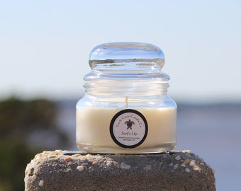 Surf's Up Coconut Lime scented hand poured soy candle 8oz