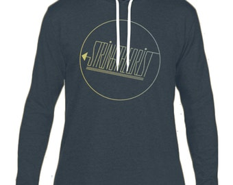 Men's Hooded Long-sleeved T-shirt Graphic (Circle Logo) - Stringtheorist Official Merchandise