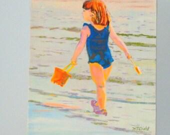 Busy Beach Girl