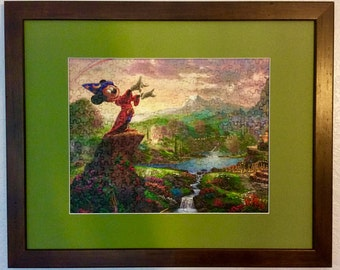 Disney Kinkade Framed/Assembled Puzzle Art - Fantasia