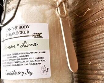 Sugar Scrub, Natural, Organic, Body Polish