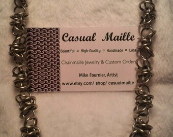 """Necklace Stainless Steel 19"""" Barb Wire"""