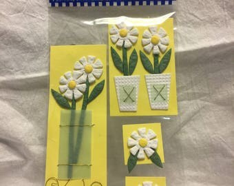 Paper Bliss White Daisy Stickers