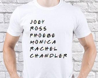 Friends shirt/ Friends TV Show/ Joey/ Ross/ Phoebe/ Monica/ Rachel/ Chandler/ men shirt/ mens tshirt/ Friends series/ Friends fan/ (FR10)