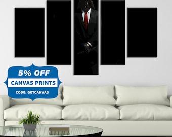 Darth Vader , Star Wars Wall Art, Canvas Darth Vader, Print Darth Vader , Wall art Darth Vader, Hitman Star Wars , Canvas art Print