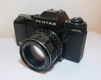 Pentax A-3000 35mm SLR Camera w/ Super-/Auto-/Takumar 55mm F1.8 lens