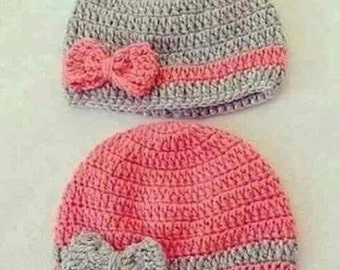 Cozy Crochet Hat with Bow