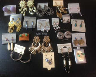 Lot of Vintage Earrings from the 1980's/Never Worn