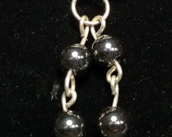 Natural Moonstone with Hematite beads, EPSTEAM