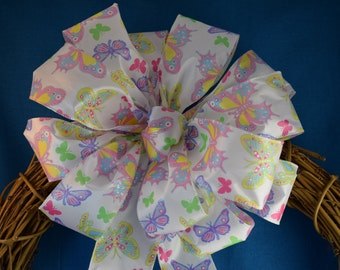 Butterfly Bow, Spring Bow, Summer Bow, Shower Bow, Wreath Bow, Basket Bow, Decorative Bow, Mother's Day Bow, Bridal Shower Bow
