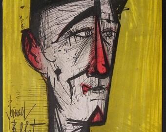 Bernard Buffet - lithograph signed referenced Jojo the Clown #MOURLOT