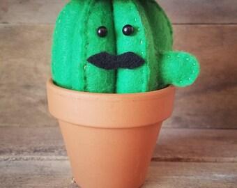 Señor Stache | Felt Cactus | Home Decor | Southwest Style | Nursery Decor