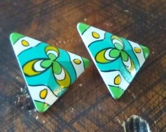 Triangle Clip-On Earrings