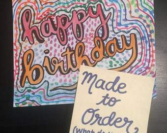 Made-to-Order Handmade Card