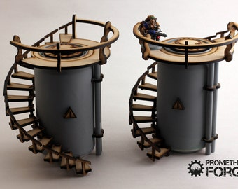 Industrial Vertical Chem Tank Terrain for 28mm Wargaming