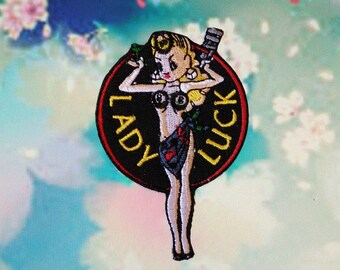 Lady Luck Iron On Patch