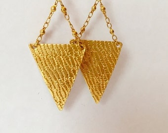 Triangle Chain Earrings