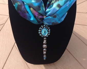 Turquoise Scarf Ring
