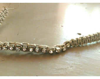 Gold rhinestone filled anklet or bracelet
