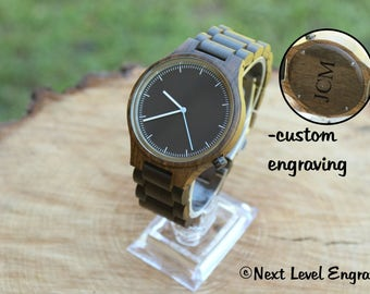 Brother Gift, Watches for Men, Birthday Gift, Brother in Law, Boyfriend Gift ideas Anniversary Gift Engraved Wood Watch Mens Personalized