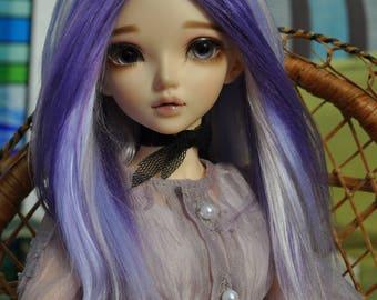 Purple Haze brushed yarn msd bjd wig