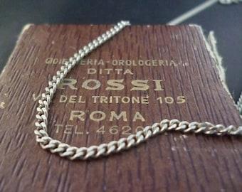"""Vintage - Necklace - 925 - sterling silver - Mens - 18"""""""