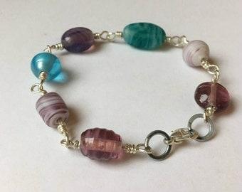 Bead silver-wire bracelet
