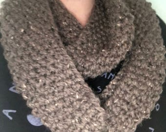 Hand-knit Infinity Cowl / Scarf, Lion Brand Wool-Ease