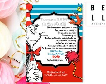 Customized Shower Invite | PRINTABLE | Dr. Seuss Baby Shower