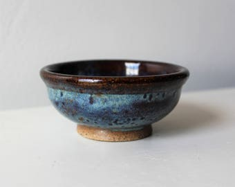 Tiny Ceramic Bowl Dish Blue