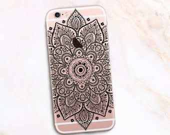 Boho Mandala Case iPhone Se, Case iPhone 6s, Case iPhone 7 Plus Case iPhone 6 + iPhone 5s Case iPhone 5c Mandala Case Nice Case 6