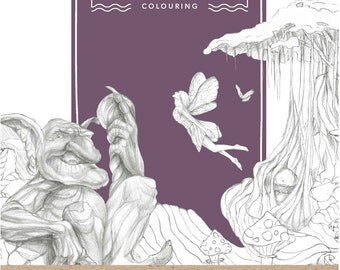 Mythology Adult Colouring Book | Immerse Yourself in Creativity