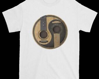Ying and Yang Guitar T-shirt