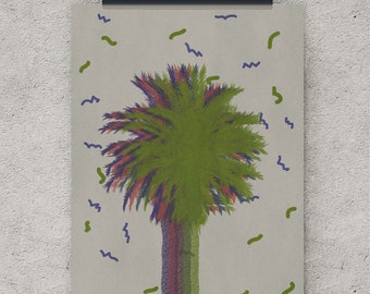 Retro art, Palm tree, prints wall art, prints for nursery, nursery prints, prints and posters, prints nursery, wall prints, digital download
