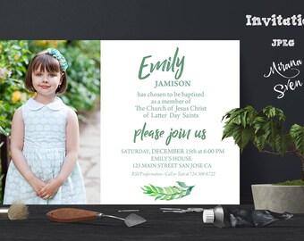 Lds baptism invite Etsy