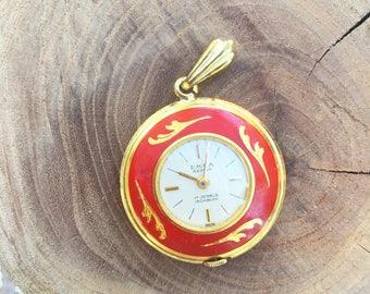 Vintage Swiss 17 Jewels Incabloc Timepiece Pendant
