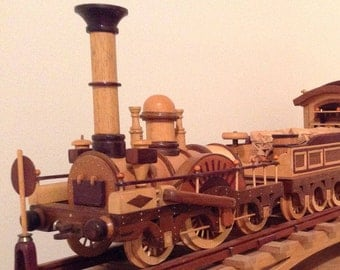 Exotic wood replica of Der Andler locomotive made from scratch