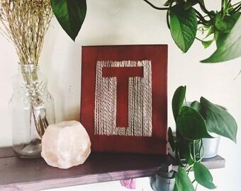Handmade Yarn Letter Art!