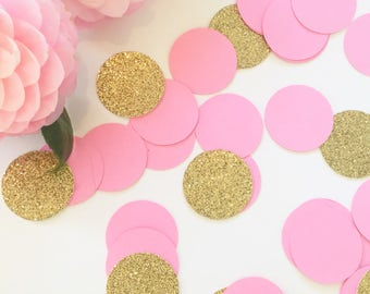 Table Confetti, Party Confetti, Pink and Gold Confetti, Baby Shower Confetti, Baby Shower Decor, Bridal Shower Confetti, Confetti, Party