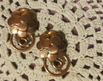 1950's Brass Brooch / Pin Set of 2
