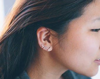 Sticks and Stones Ear Pin Earrings (3 colors)