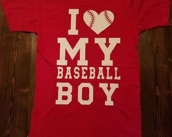 I Love My Baseball Boy T Shirt
