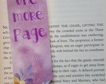 Just One More Page Purple Bookmark